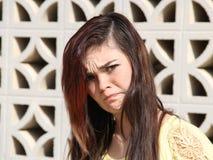 恼怒的青少年的女孩 图库摄影