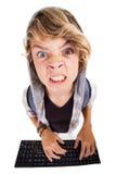 恼怒的青少年的男孩 免版税库存图片