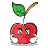 恼怒的面孔樱桃字符动画片样式 皇族释放例证