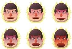 恼怒的面孔 免版税库存图片