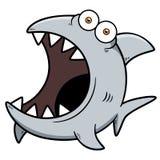 恼怒的鲨鱼 皇族释放例证