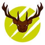 恼怒的鹿徽章 免版税图库摄影