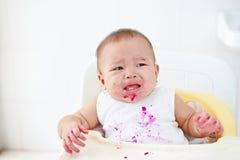 恼怒的婴孩和哭泣 库存图片