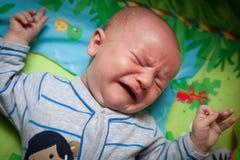 恼怒的婴孩 免版税库存照片