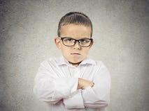 恼怒,脾气坏的男孩 免版税库存图片