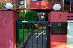 悉尼共和国的总领事馆波兰 库存照片