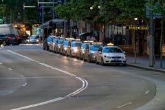 悉尼出租汽车汽车 库存照片