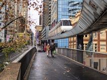 悉尼单轨铁路车的最后天 免版税库存照片