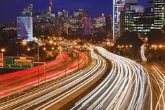 悉尼卡希尔接近的黑暗 免版税库存图片