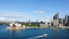 悉尼和港口看法  免版税库存图片
