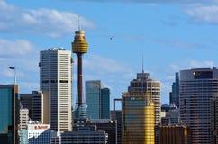 悉尼商业中心区地平线南方的新南威尔斯 图库摄影