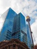 悉尼塔和现代摩天大楼,澳大利亚 库存图片