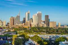 悉尼市地平线在澳大利亚 库存照片