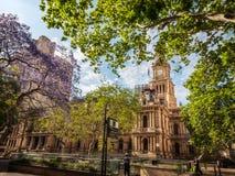 悉尼市政厅广场,澳大利亚 图库摄影
