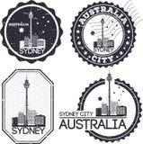 悉尼市邮票 向量例证
