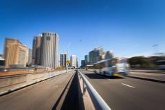 悉尼市` s公路交通 免版税库存图片