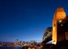 悉尼微明 库存照片