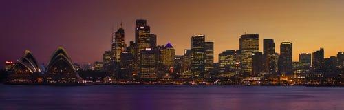 悉尼微明 免版税库存照片