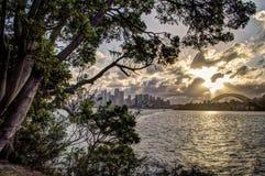 悉尼日落 免版税库存照片