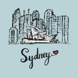悉尼歌剧大厦图画  皇族释放例证