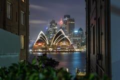 悉尼歌剧院在晚上, 库存照片