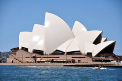 悉尼歌剧院是艺术在悉尼,新南威尔斯,澳大利亚集中 库存照片