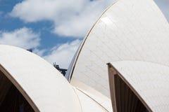 悉尼歌剧院特写镜头 库存图片