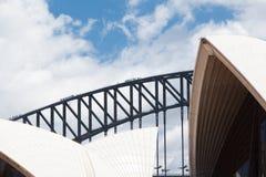 悉尼歌剧院特写镜头 免版税库存图片