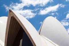 悉尼歌剧院特写镜头 免版税图库摄影