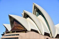 悉尼歌剧院的精妙的外部 免版税图库摄影