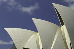 悉尼歌剧院风帆,澳大利亚 免版税库存照片