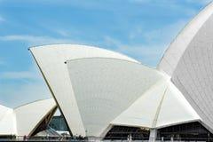 悉尼歌剧院,屋顶细节 免版税图库摄影
