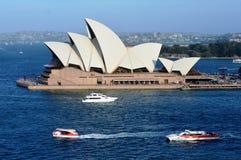 悉尼歌剧院,澳大利亚顶视图  图库摄影