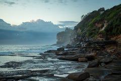 悉尼海岸线日出的 库存照片