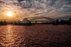 悉尼海湾海景  免版税库存图片