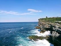 悉尼港口国家公园@ Watsons海湾 免版税库存图片