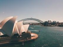 悉尼港口鸟瞰图  免版税图库摄影