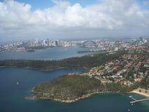 悉尼港口鸟瞰图 免版税库存图片