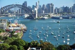悉尼港桥在悉尼,新南威尔斯,澳大利亚 免版税库存照片
