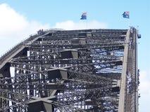 悉尼港桥攀登 免版税图库摄影