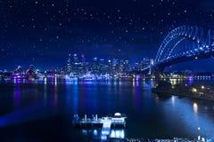 悉尼港桥星 免版税图库摄影