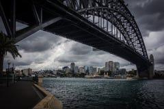 悉尼港桥雷 库存照片
