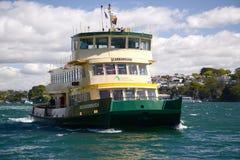 悉尼澳大利亚港口渡轮 库存图片