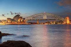 悉尼澳大利亚- 2013年2月15日:日落看法在悉尼 库存照片