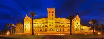 悉尼男子气概的宫殿全景日落 免版税图库摄影