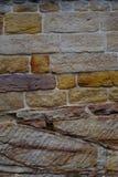悉尼砂岩墙壁 库存照片