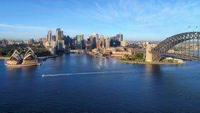 悉尼空中全景  库存图片