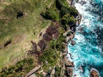 悉尼空中照片-金刚石海湾 库存照片