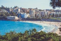 悉尼邦迪滩在一个夏日 图库摄影