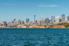 悉尼都市风景街市在一美好的天 库存照片